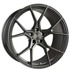 "4ea 20"" Stance Wheels SF07 Gunmetal Brushed Tinted Face Rims (S5)"