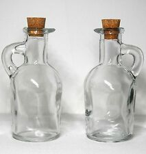 EXCELLENT COLLECTIBLE FINE LOOKING MINIATURE CLEAR GLASS CRUET TYPE BOTTLES