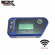 4MX Blue Wireless Motorcycle Engine Vibration Hour Meter to fit Husaberg MX499