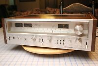 VINTAGE SILVER FACE PIONEER SX-780 AM/FM STEREO RECEIVER WITH WOOD SIDES
