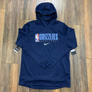 Nike Memphis Grizzlies Team Issued Showtime Hoodie Navy Size L-TALL AV1360-419