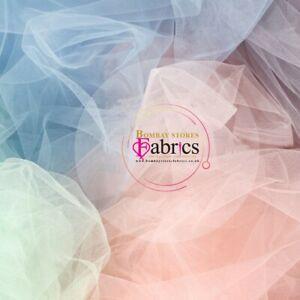 Dress Net Tulle Tutu Fabric Metre Full Roll Mesh Fairy Material 140cm Wide