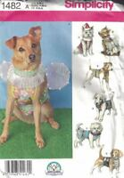 Dog Clothes Costumes in 3 Sizes S M L Simplicity 1482 Bow Ties & More Uncut