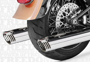 Racing Dual Exhaust System Freedom Performance HD00200 For 07-16 H-D FLS FXS