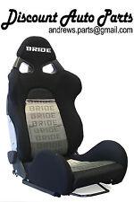 BRIDE CUGA in Black Gradation fabric Low Max bucket Racing Seats w/SLIDERS! PAIR