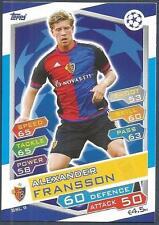 TOPPS MATCH ATTAX CHAMPIONS LEAGUE 2016-17 #BSL09-FC BASEL 1893-ALEX FRANSSON