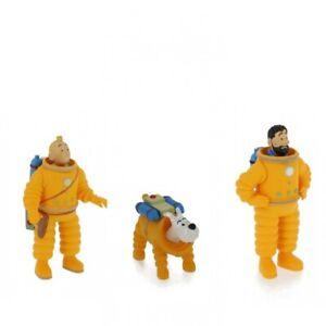 Tintin, Snowy and Capt. Haddock set of 3 Lunar astronaut plastic figurines