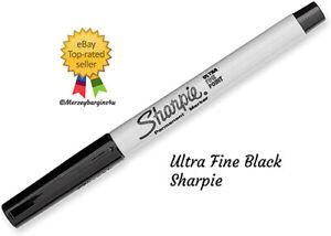 Black Sharpie Ultra Fine Sharpie Permanent Marker Pens Genuine 1 or 2 Pens
