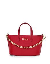 Ralph Lauren Newbury Mini Hand Bag Charm Red
