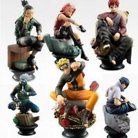 6pcs/set Naruto Action Figures PVC Model Anime Toy for Kid Gift