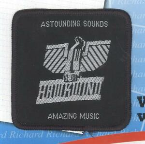 Hawkwind Astounding Sounds vintage 1970s SEW ON PATCH - BLACK border