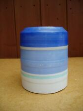 Vintage Gray's Pottery hand-painted banded storage jar