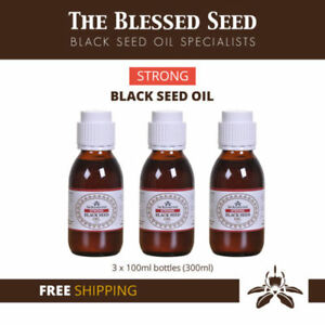 """Strong Black Seed Oil Cold Pressed Kalonji By """"The Blessed seed"""" - 300 ML"""