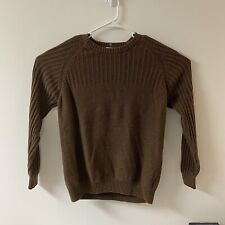 Columbia Mens Heavy Sweater Pull Over Crew Neck Brown Size XL