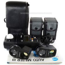 Minolta Auto Meter III con Visor 5 ° y 10 ° bornica Hasselblad Mamiya Leica