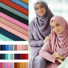 Women's Muslim Islamic Long Hijab Scarf Shawls Head Wrap Chiffon Ladies Scarves