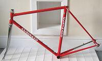 Vintage steel Italian road frame by Cusinato 54 cm repainted  70s
