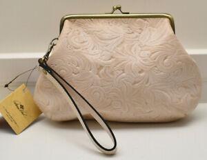 Patricia Nash Savena White Waxed Tuscan Leather Wristlet Clutch Handbag New! NWT