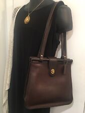 COACH VINTAGE WESTON MAHOGANY BROWN SHOPPER SHOULDER BAG 9021