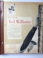 MLB Boston Red Sox Ted Williams Scrap Book 1957 Baseball Newspaper Clippings