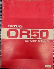 "Suzuki OR50 ""Rebel"" OEM Service Manual"