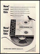 1964 Kodak Sound Recording Tape vintage print ad