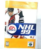 NHL 99 Instruction Booklet Manual N64 Nintendo 64 Booklet Book Only