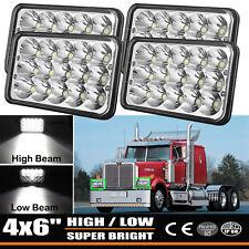 4X LED Headlights For Freightliner FLD120 FLD112 4''x6'' Light Hi/Lo Sealed Beam