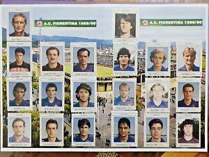 MINI ALBUM FIGURINE GUERIN SPORTIVO 1989-90 SQUADRA COMPLETA FIORENTINA - BAGGIO