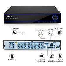 SANNCE 16CH 1080N 5IN1 HD Video Home Security CCTV DVR Recorder Remote Access