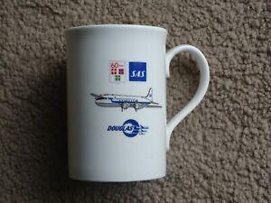 SAS Scandinavian Airlines Boeing Douglas 60th Anniversary Airline China Mug
