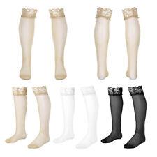 Men's Sexy Mesh See through Lace Anti-slip Thigh High Socks Wear Sheer Stockings