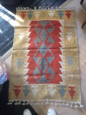 """RUG TURKISH KILM GOOD CONDITION SIZE 31"""" Inches by 46"""" Inches."""