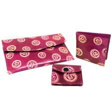 Handmade Leather Quality Ethnic Wallet & Purse Set, OM, Sun & Moon