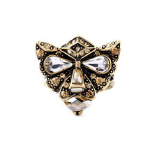 Vintage Gold Antique Egyptian Leopard Head Rings For Women Or Men Jewelry Size 7