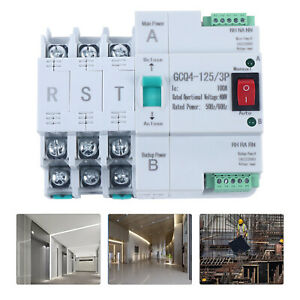 220V Smart Dual Power Automatic Transfer Switch 3P 100A Circuit Breaker AU stock