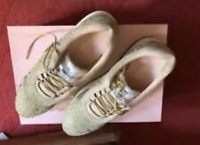 Pretty Ballerinas Ladies Trainers Sneakers Wedge Gold Glitter 40 Christy
