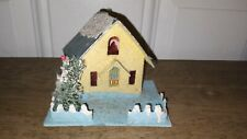Pre-War Antique Christmas Putz House With Base, Made in Japan.