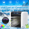 USB Rechargeable Air Conditioner Cooler Cooling Fan Mini Desk Cube Water Silent