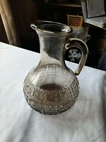 Italian... Vintage.. Brown Glass.. Jug/  Pitcher