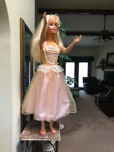 """my life size Barbie doll 1992 Great Condition 38"""" Fancy Formal Gown"""