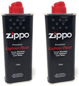 2x Zippo Benzina Originale Flacone Da 125ml Ricarica Per Accendino