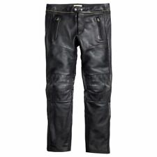 NWT Isabel Marant H&M Black Leather Biker-Style Trousers pants Size 32 W