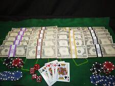 More details for prop novelty money filler packs 40 blocks casino pack solid blocks.single sided
