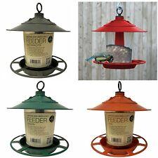More details for garland hanging lantern bird seed & nut feeder wild bird plastic feeder 3 colour