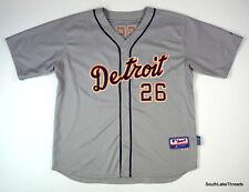 Men's Majestic MLB Authentic Detroit Tigers Brennan Boesch Cool Base Jersey 52