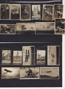 rare!!! 18 CHROMOS PHOTOS anciennes CHOCOLAT MIGNOT COMPTOIR FRANCAIS Avion