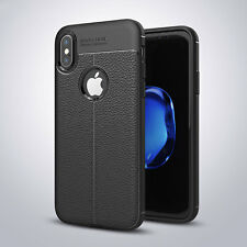 Shockproof Grained Leather Ultra Thin Soft Case Cover For iPhone 5 6S 7 8 X Plus