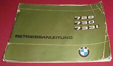 kfz betriebsanleitung tech. daten bmw 7er 728 730  733 i heft 1977 oldtimer auto