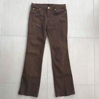 Roberto Cavalli Brown Cotton Stretch Straight Leg Jeans Sz 40
